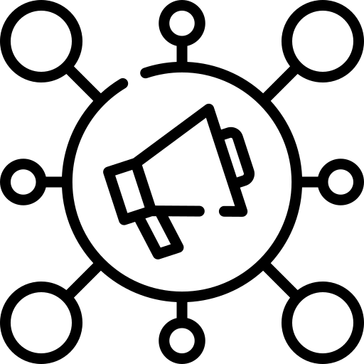 creative copywriting megaphone logo