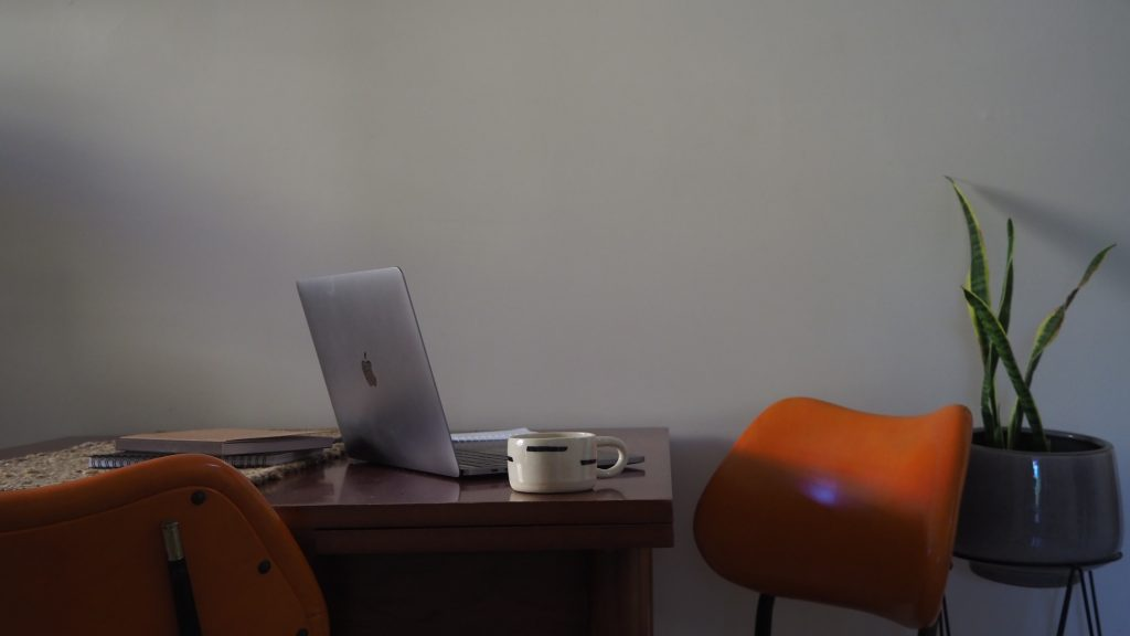 laptop coffee copywriting process