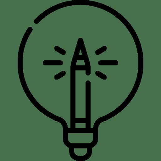 creative copywriting lightbulb logo